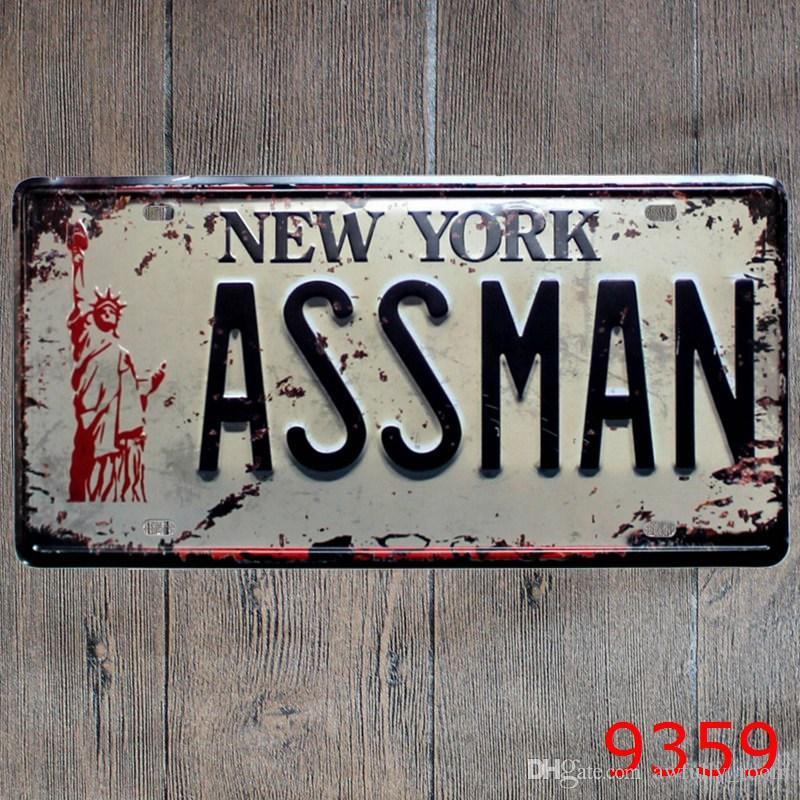 US NO48 New York America Plate Vintage Metal Painting Hot Rod Poster Fascinating Best Bedroom Posters Exterior Decoration
