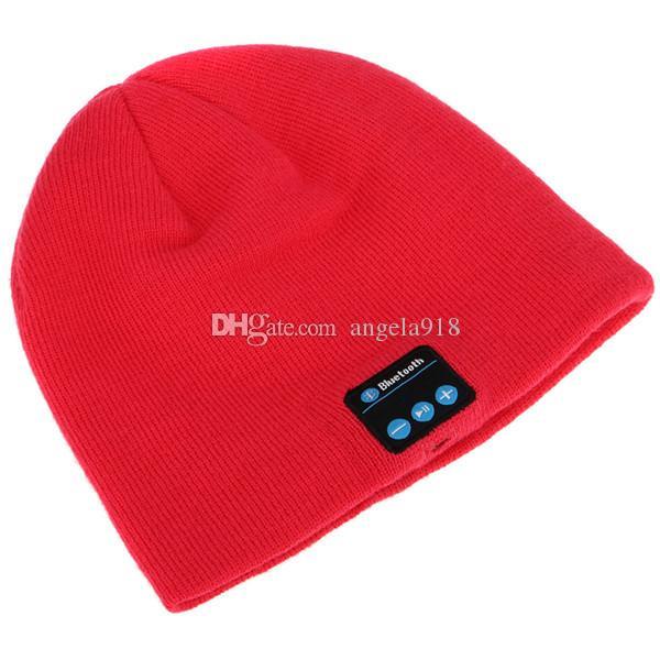 Neue Bluetooth Musik Hüte Weiche warme Beanie Cap mit Stereo Kopfhörer Headset Lautsprecher Wireless Mikrofon Strickmütze 6 Farben C477