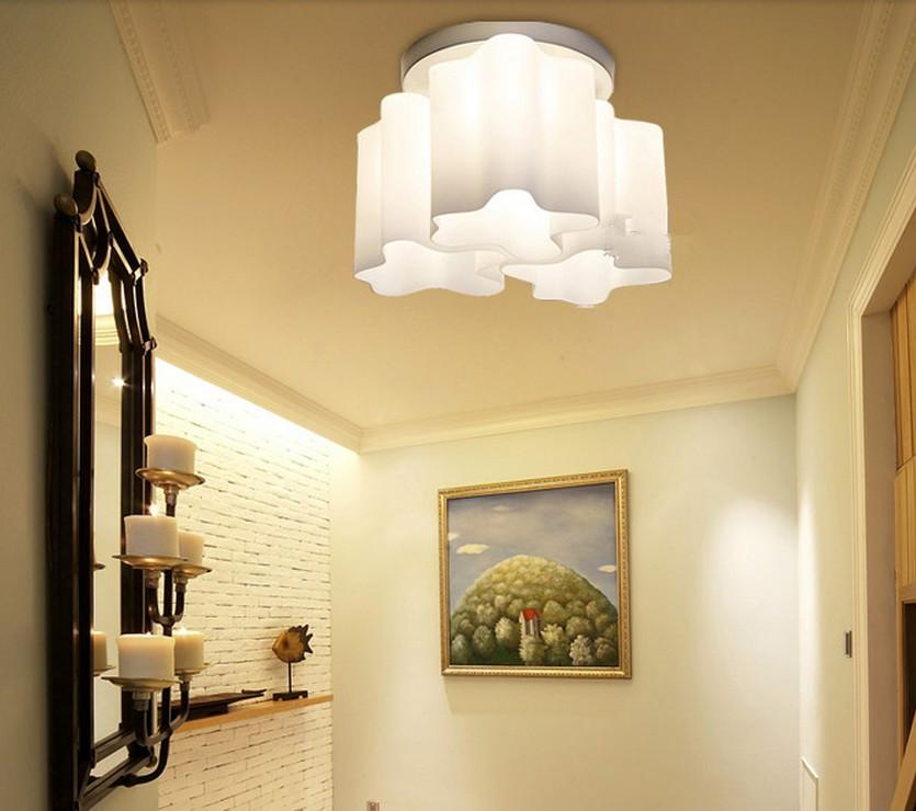 Modern Logico Ceiling Lamp Lounge Living Ceiling Light Twist Lamp Shade  Milk Glass Chandelier Triple Nested Ceiling Cloud Ceiling 3 Heads