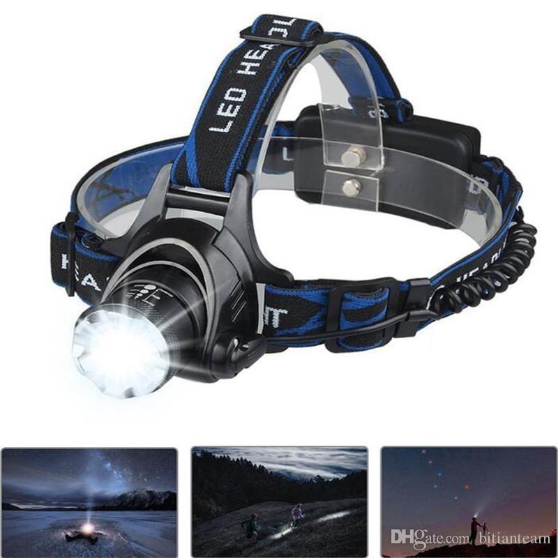 CREE XML T6 phares phare puissant Zoom 18650 étanche batterie rechargeable Led lampe frontale Vélo Camping Randonnée Lumière