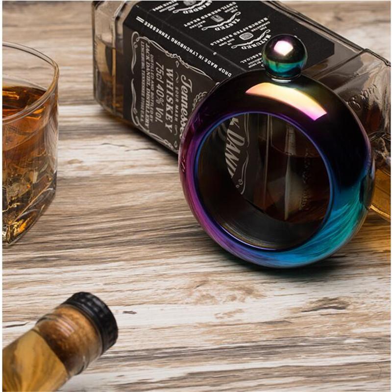 3.5 oz нержавеющей стали кувшин браслет алкоголь хип колбы воронка браслет ювелирных изделий подарок воронка браслет