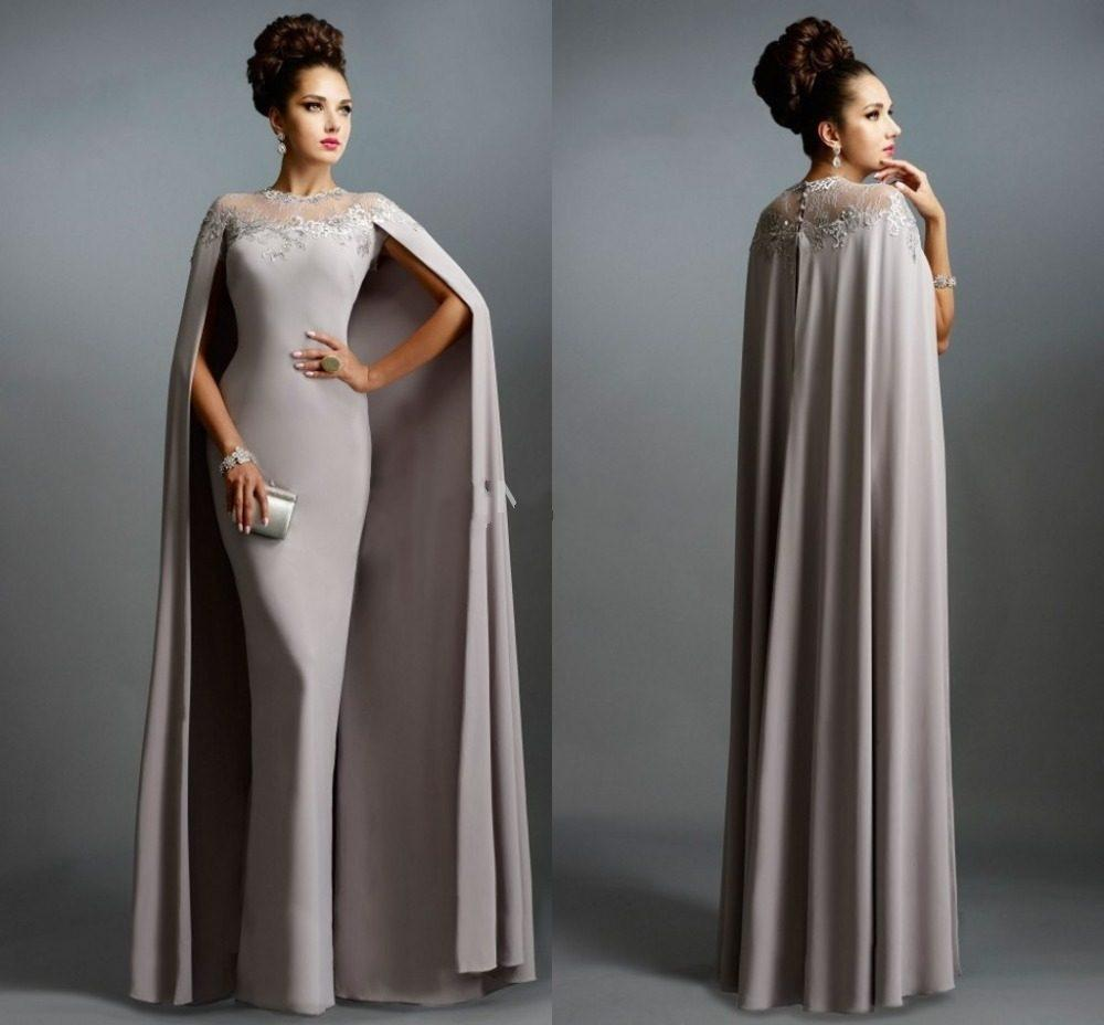 Luxury Muslim Gray Mother Of The Bride Dresses 2016 Sexy