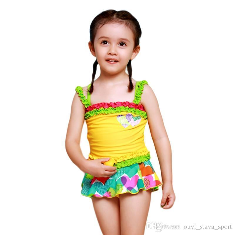 2018 2016 One Piece Swimsuit Beautiful Falbala Little ...