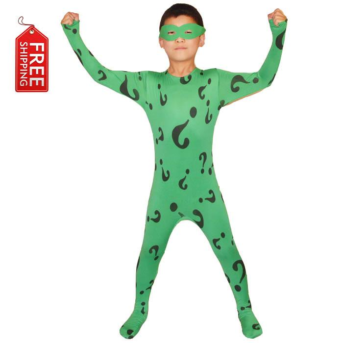 Boys Riddler Costume Kids Superhero Batman Cosplay Halloween Costumes For Kids Children Green Bodysuit Zentai Custom Wholesale Girls Group Costumes Great ...  sc 1 st  DHgate.com : super hero costume for kids  - Germanpascual.Com