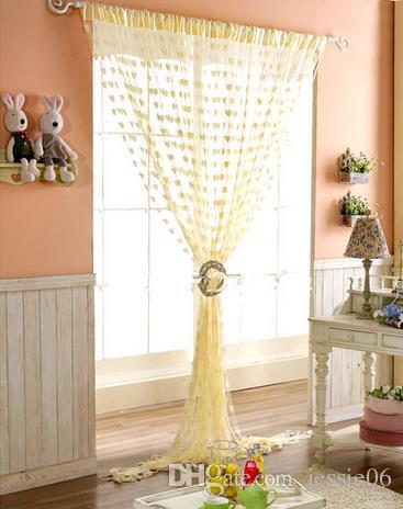 結婚式の背景カーテンラブハートタッセルスクリーン室仕切りロッドポケットドアシアーカーテン新しいパーティーデコレーション小道具ホームテキスタイルギフト