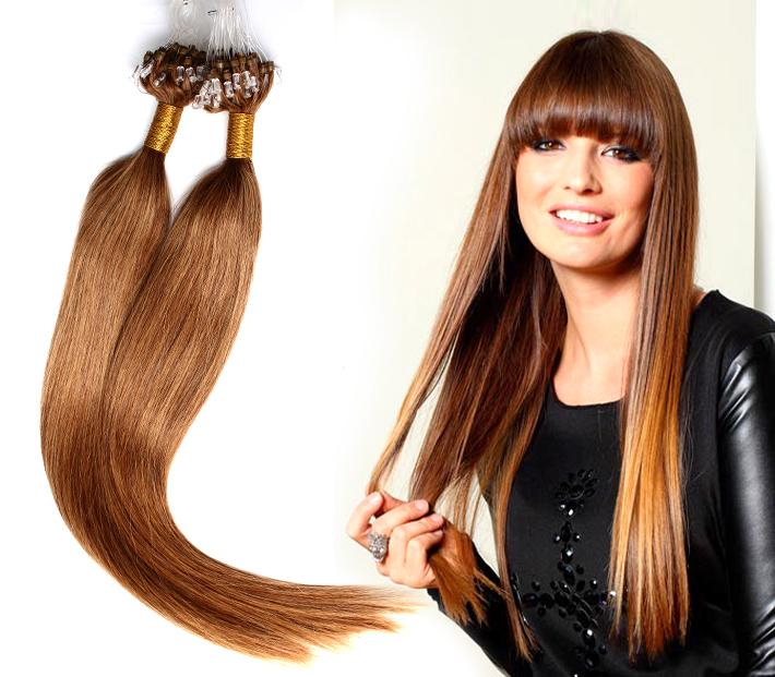Color 8142227 Micro Loop Hair Extensions 20inch 24inch Silky