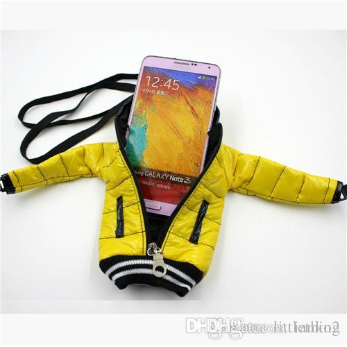 171039259a Portable Universal 5.5 Inch Mobile Phone Bag Down Jacket Coat Pouch Cotton  With Lanyard For Samsung For HTC For Iphone Jeweled Cell Phone Cases Cell  Phone ...