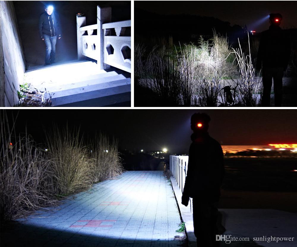 LED Scheinwerfer 5 CREE XM-L T6 Q5 Scheinwerfer 15000 Lumen LED USB Scheinwerfer Camp Hike Notlicht Angeln im Freien
