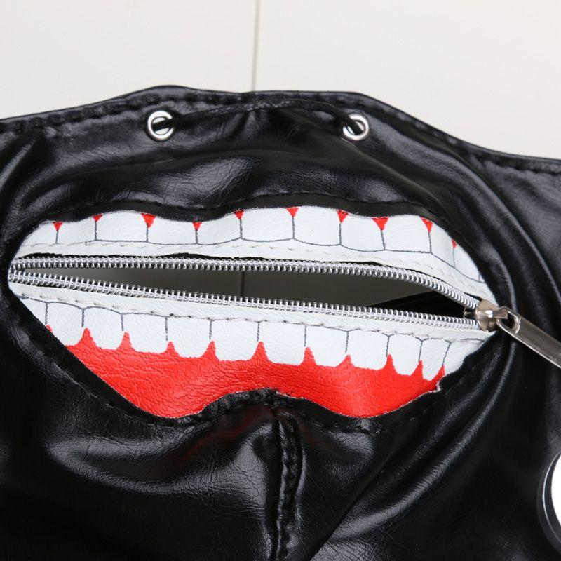 New Arrival Anime Cosplay Tokyo Ghoul Kaneki Ken Mask Adjustable Zipper Masks PU Leather Mask
