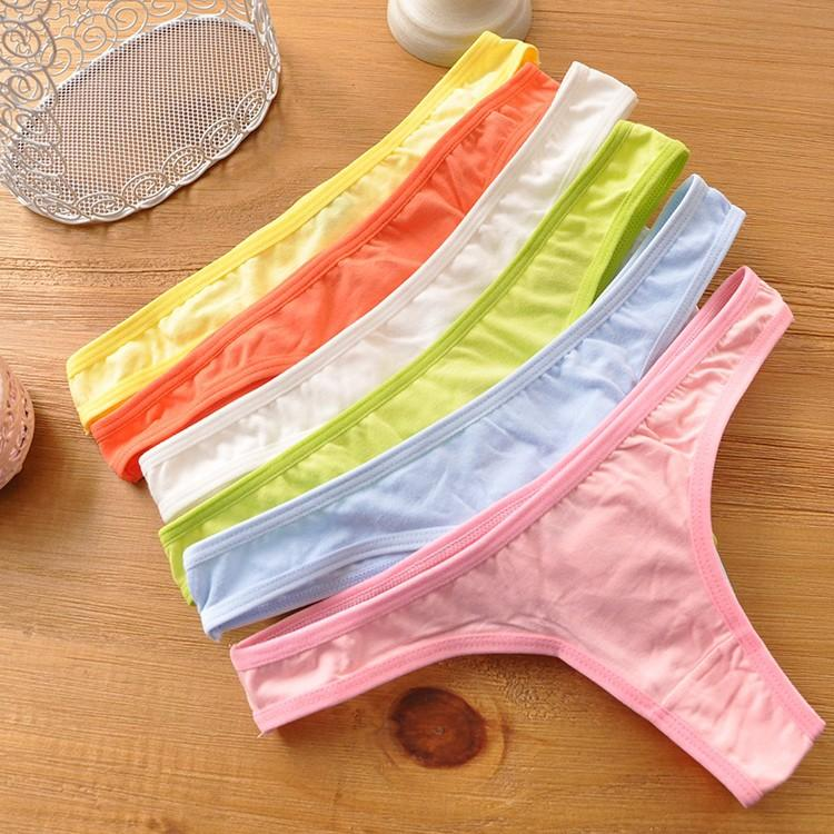 9afba61ed68 2019 New Fashion Candy Underwear Women Thongs And G String Panties Cotton  Briefs Sexy Lingeries Female Intimates From Wedi011