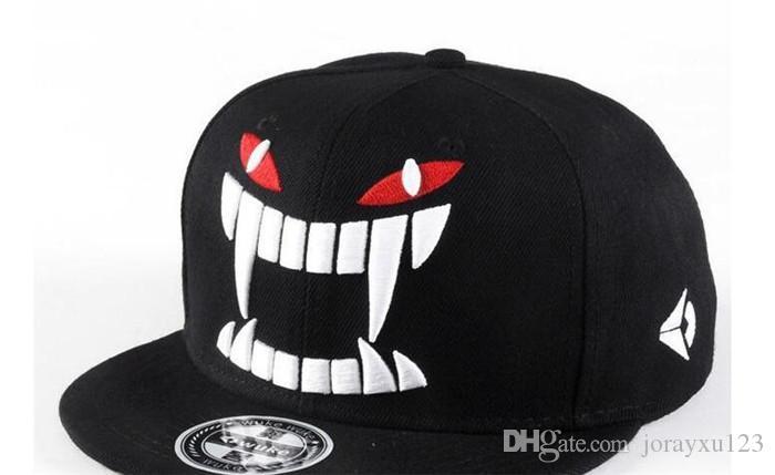 WUKE Big teeth south Korean baseball cap hipster hats in hip hop hat J019
