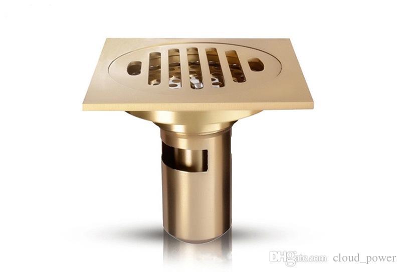 탈착 가능한 여과기가있는 욕실 샤워 플로어 배수구, 세련된 황동 4