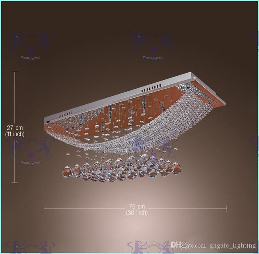 8 işıklar Kristal Avize Işık Fikstürü Dikdörtgen Temizle Kristal Cilası Lambası Tavan Işık G4 ampuller Avize Yemek odası için toplantı odası