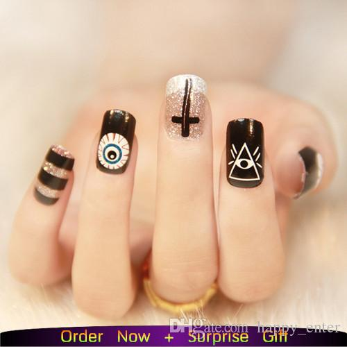New Fashion Nail Wraps Punk Rock Styles Metal Color Gold Or Silver ...