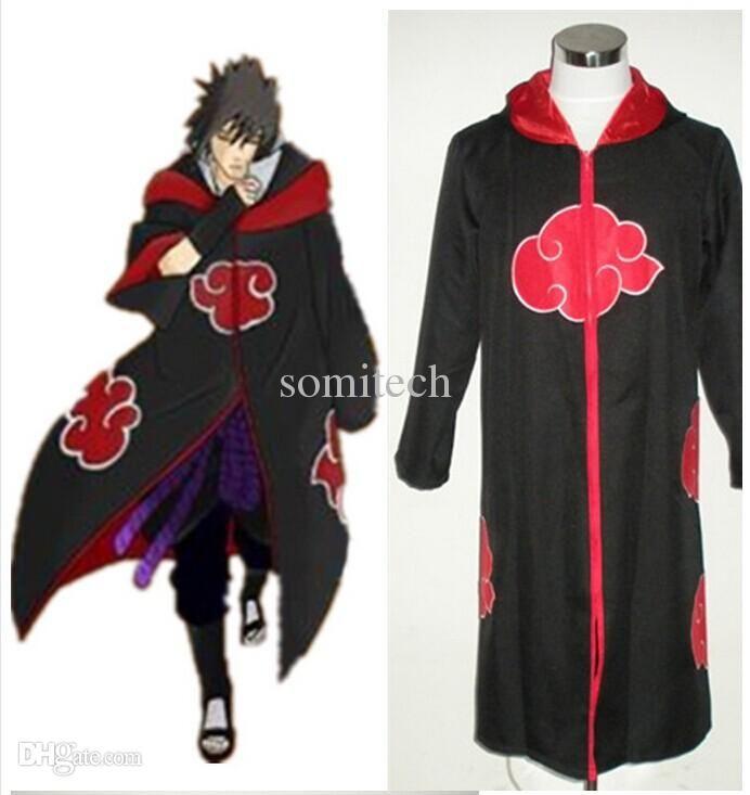 Compre Trajes De Halloween Traje De Naruto Akatsuki Traje De Ropa - Trajes-de-hallowen