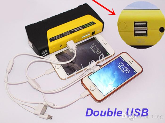 Haute Qualité 50800mah 12 V Portable Mini Jump Starter Voiture Jumper Booster Power Chargeur Batterie Mobile Téléphone Portable Power Bank