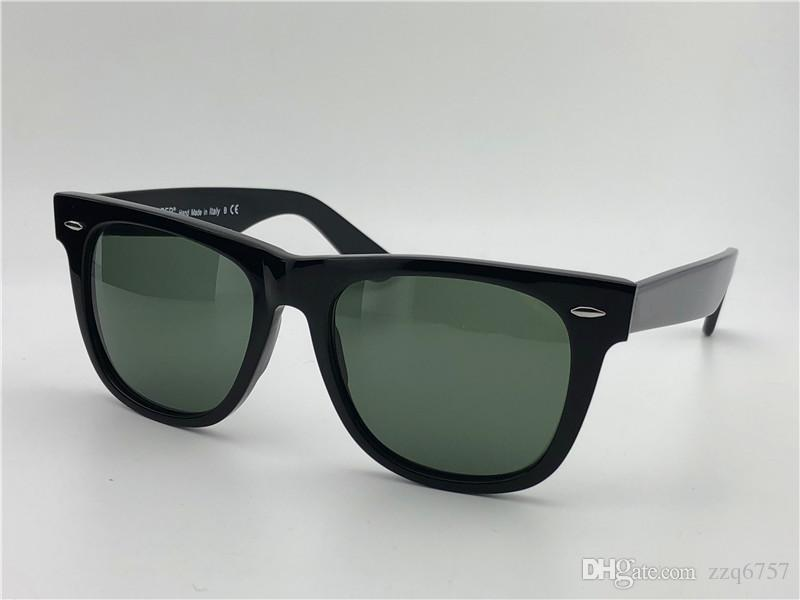 Fashion Designer Sunglasses Square Black Frame Classic Vintage Style Outdoor Eyewear UV400 Glass Lens Top Quality With original box