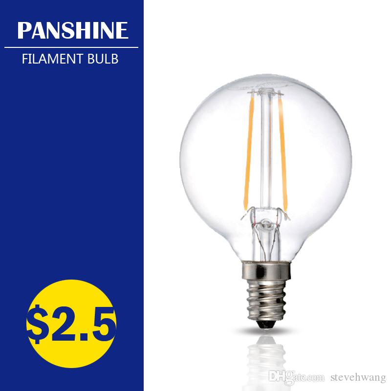best new led filament bulb g165 120v 2w 35w e12 e26 dimmable ul certificate indoor outdoor party light replace lamp low price led bulb