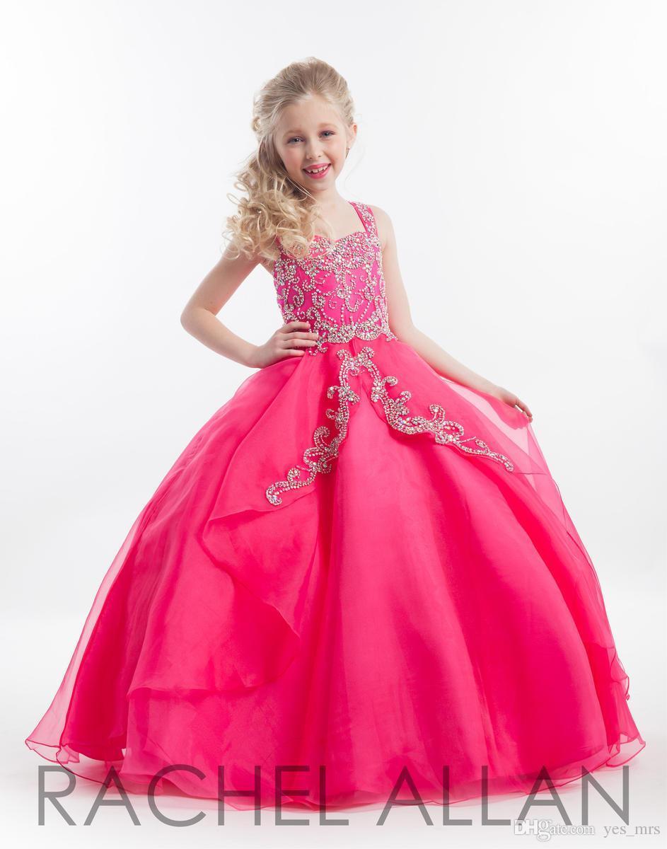 Compre 2016 Nuevos Rachel Allan Chicas Del Desfile De Vestidos De ...