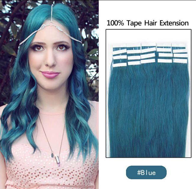 19 cores do cabelo indiano trama de pele remy fita dupla face em extensões de cabelo humano / lote