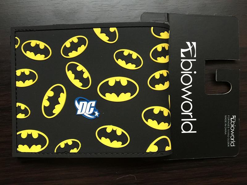 Comics DC Marvel Bioworld Batman Wallets Cartoon Anime Bat Men Purse Super Hero Dollar Holder Bags PVC PU Leather Short Wallet