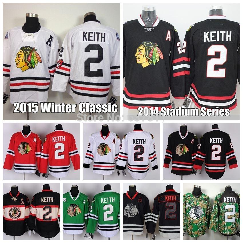 f1fd2247524 2019 Chicago Blackhawks Hockey Jerseys #2 Duncan Keith 2015 Winter Classic  Jersey Home Red White Black Skull Stitched Jerseys A Patch From Espn_sport,  ...