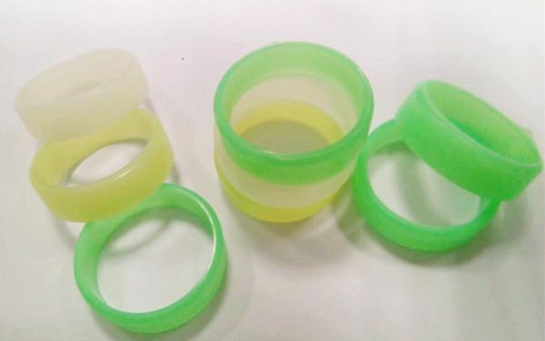 Glow in the Dark Механический мод RDA Защитные светящиеся силиконовые резиновые ленты Lumious Vape Ring 22 мм Vape мод сопротивления резиновые ленты Vape