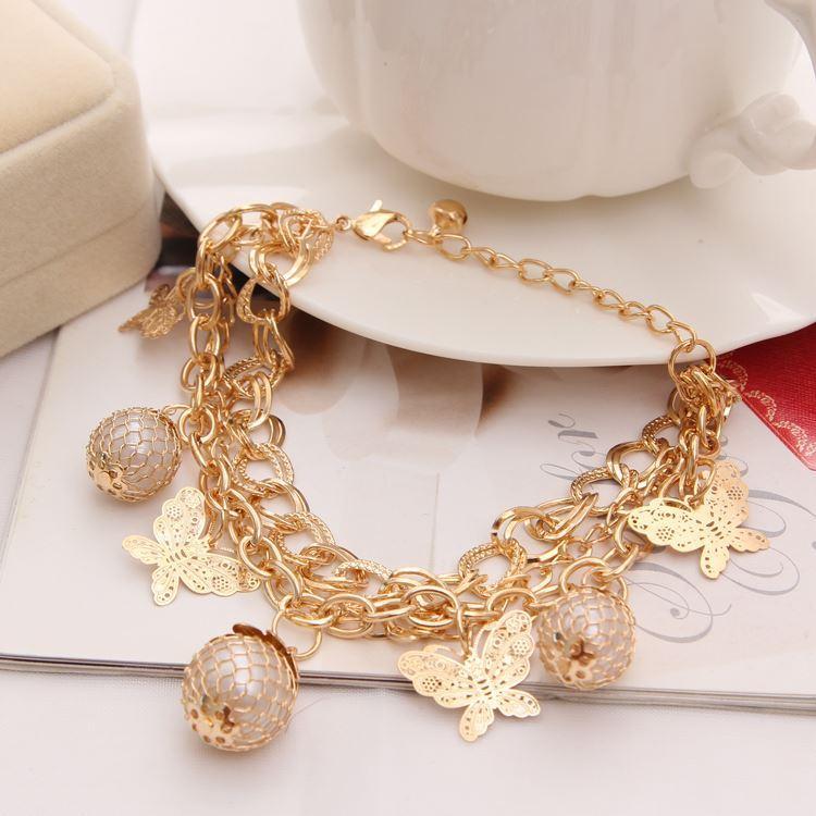 New Coming Golden Zinc Alloy Design Bracelet For Women Pretty ...