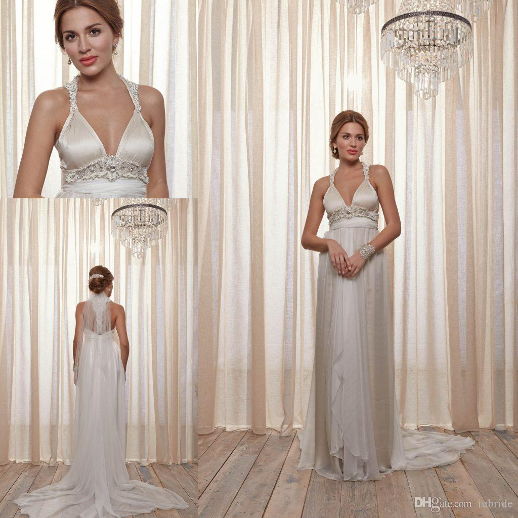 Anna Campbell Wedding Gown: 2015 Fall Empire Anna Campbell Wedding Dresses Halter