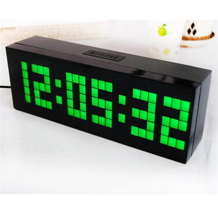 2018 digital led alarm clock electric countdown timer wall desk table alarm clock bedroom snooze. Black Bedroom Furniture Sets. Home Design Ideas