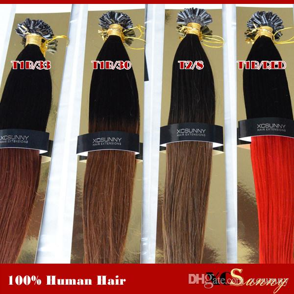 Xcsunny 18 20 inch hair extensions nail tip ombre malaysian virgin xcsunny 18 20 inch hair extensions nail tip ombre malaysian virgin human hair 100g100s ombre hair extensions black dark brown pmusecretfo Images