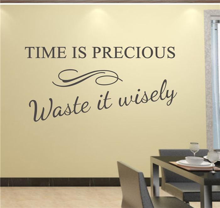 Time Is Precious Use It Wisely Decor Vinyl Wall Decal Quote - Vinyl wall decals quotes
