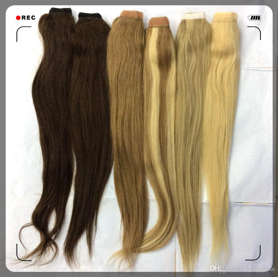 Top quality remy clip in one pieces volume booster ponytail hair see larger image pmusecretfo Gallery