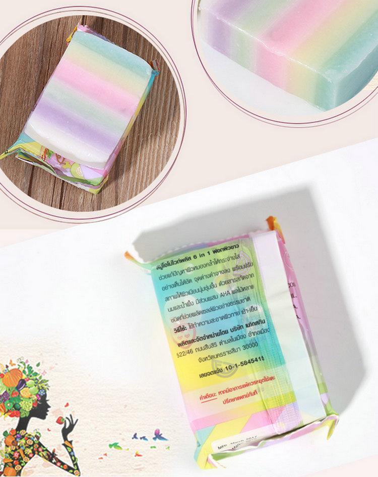 Омо мыло ручной работы Gluta Радуга мыло новые поступления белый плюс мыло микс цвет плюс пять отбеленная белая кожа