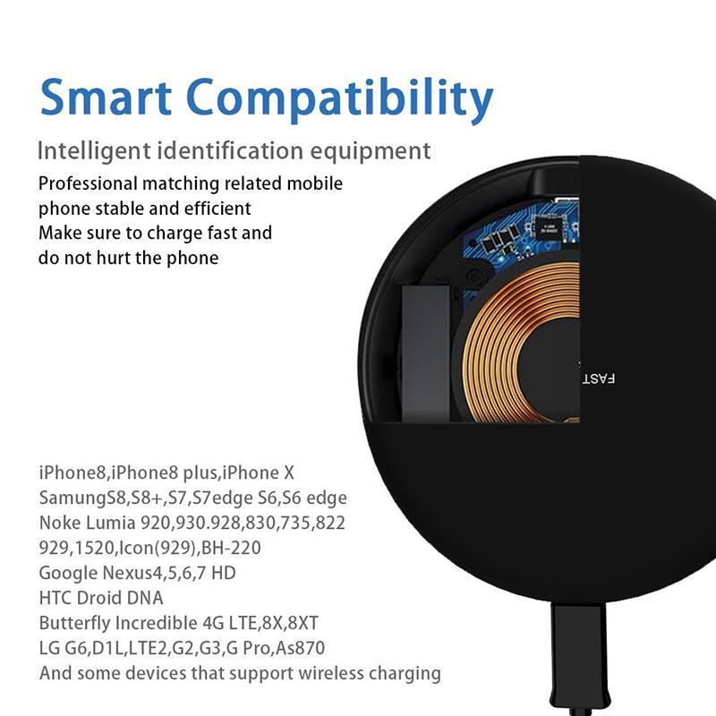 Für iPhone 8 X XR XS Max 9 V 1.67A 5V 2A Schnelles schnelles Ladegerät Qi Qi-Ladegerät für Samsung Galaxy S9 Plus Note 9 mit Paket