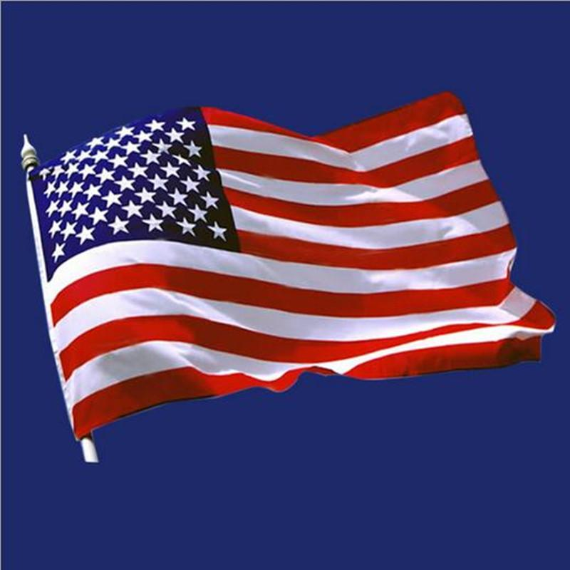 3 x 5 inch  about 90 x 150 cm  USA flags polyester patriotism part banner sport fans bicycle advertisement race football fans