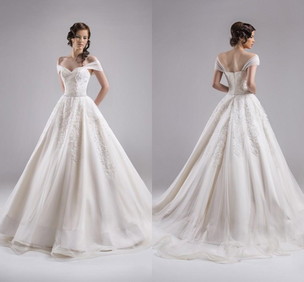 Ball Gown 2015 Wedding Dresses Formal Capped Sleeves Floor Length