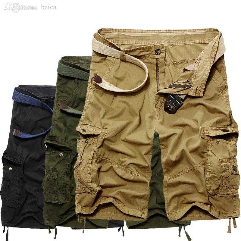 1dc0cf0fc7 2019 Wholesale Men'S Leisure Shorts Causal Beach Pants With Pockets Short  Pants Men Cargo Shorts Summer Style From Baica, $26.26 | DHgate.Com