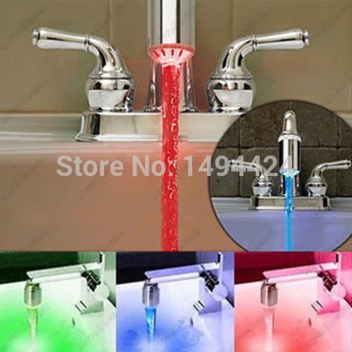 2019 Mini Led Light Water Stream Faucet Tap Bathroom