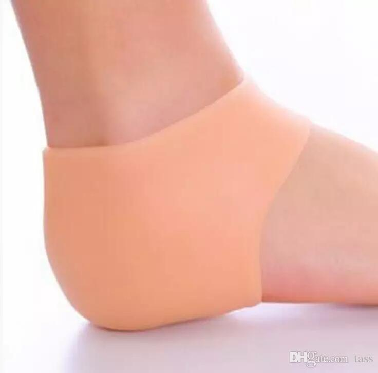 Fußpflegesocken Silikon Moisturizing Gel Fersensocken mit Loch Cracked Foot Skin Care Protectors