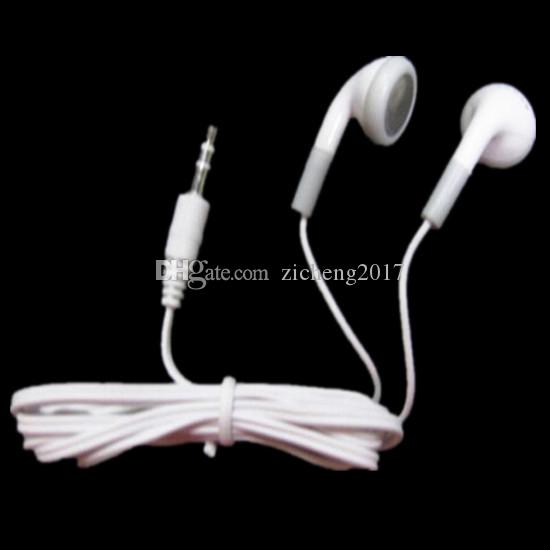 cheapest Disposable Simple White Earphones Headphone Headset for mobile phone MP3 MP4 for bus or train or plane for school
