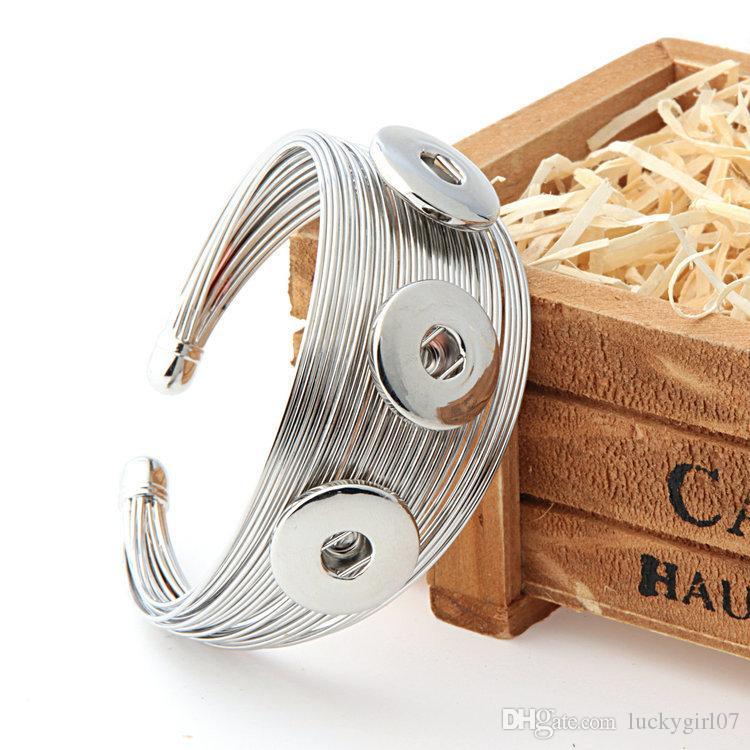 Neue Design Neupreis NOOSA Metall Druckknopf Manschette Armband Austauschbare Schmuck Ingwer Snaps NOOSA Schmuck