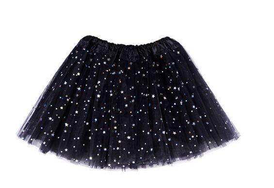 6 اللون ستار بريق البريق تول توتو الباليه فتاة الرقص تنورة زي حزب تنورة 20 قطع