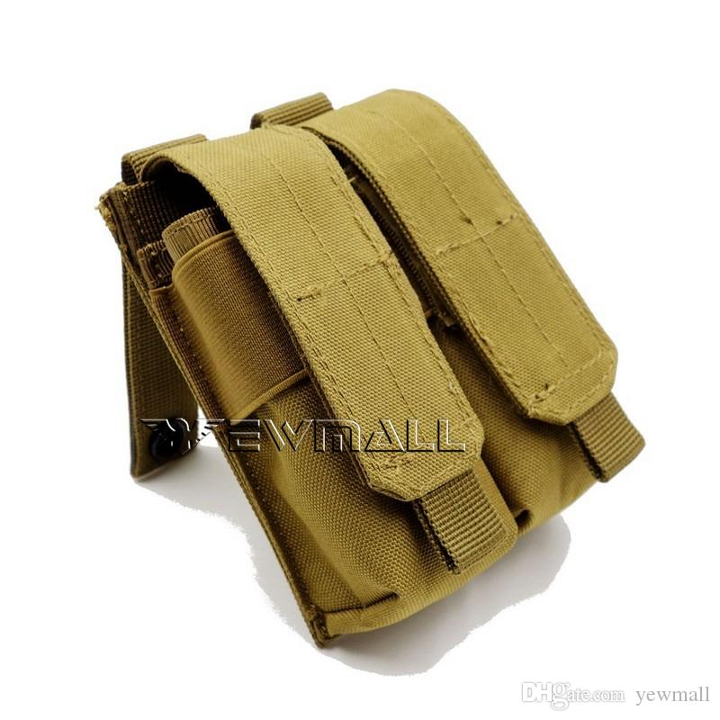 Tactical Molle Clip Double Mag Magazine Pouch Bag Pistol Magazine Pouch  Cartridge Clip Tool Pouch For USUG 30 RD AK Pistol Womens Purses Leather  Bags For ... d9bc70ded0