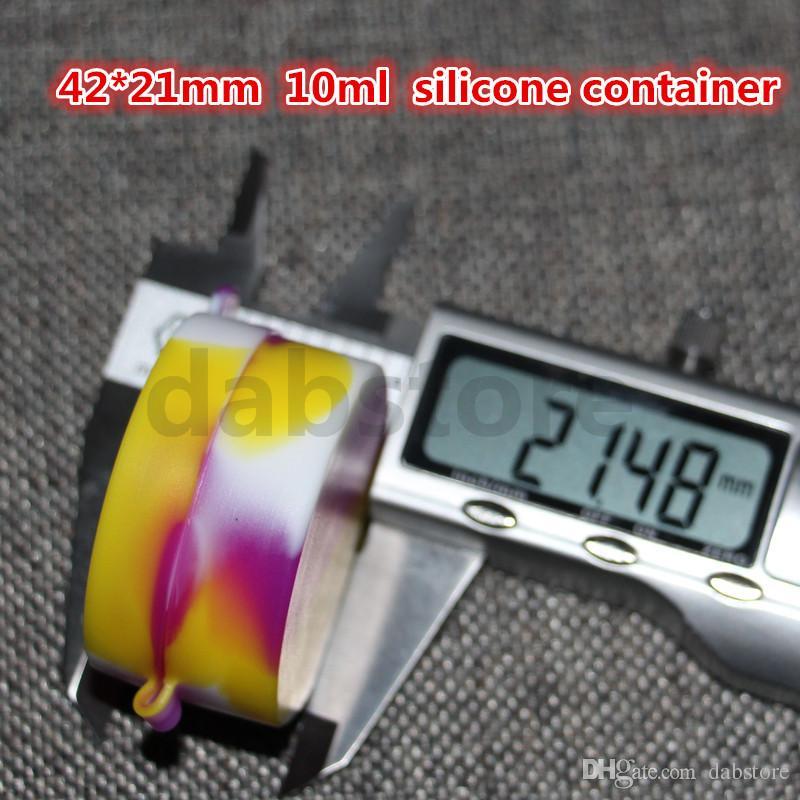 حاوية سيليكون مقاس 42 * 21 مم للشمع / الزيت ، حاوية مطاط السيليكون المخصصة ، حاوية حاوية من السيليكون غير قابلة للالتصاق