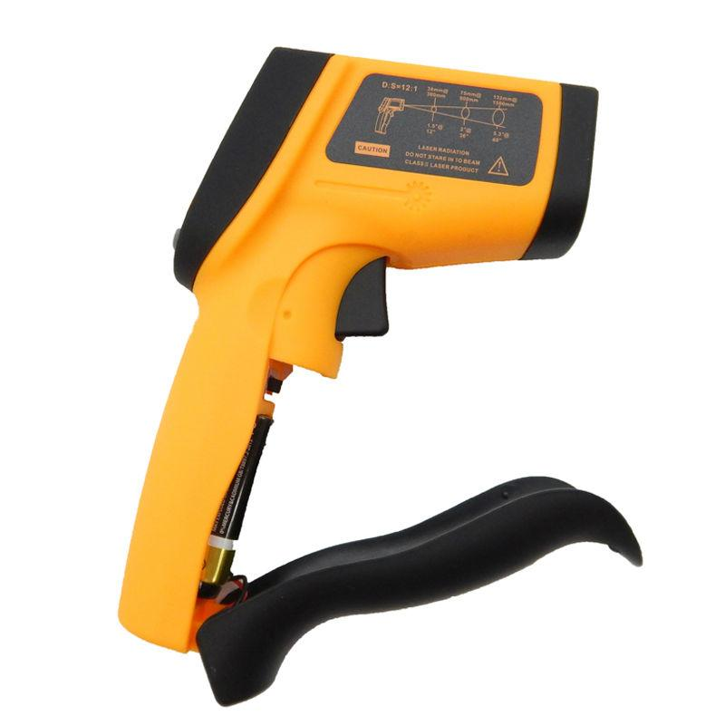 Freeshipping Termometro infrarosso senza contatto del termometro infrarosso della pistola Termometro della pistola -50 ~ 950C (-58 ~ 1742F) 0.1 ~ 1.00 regolabile