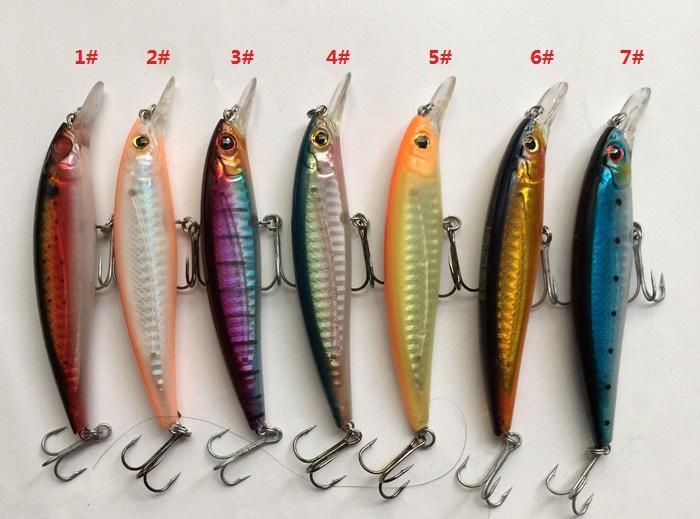 10cm hav locka flytande typ fiske lock fiske tackla hårt plast falskt lock Kina krok gjutning bete minnow bete
