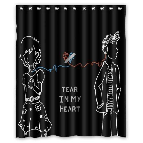 NEW High Quality Twenty One Pilots Waterproof Water Drops Bathroom 60x72 Inch Shower Curtain Online With 4228 Piece On Littleman913s Store