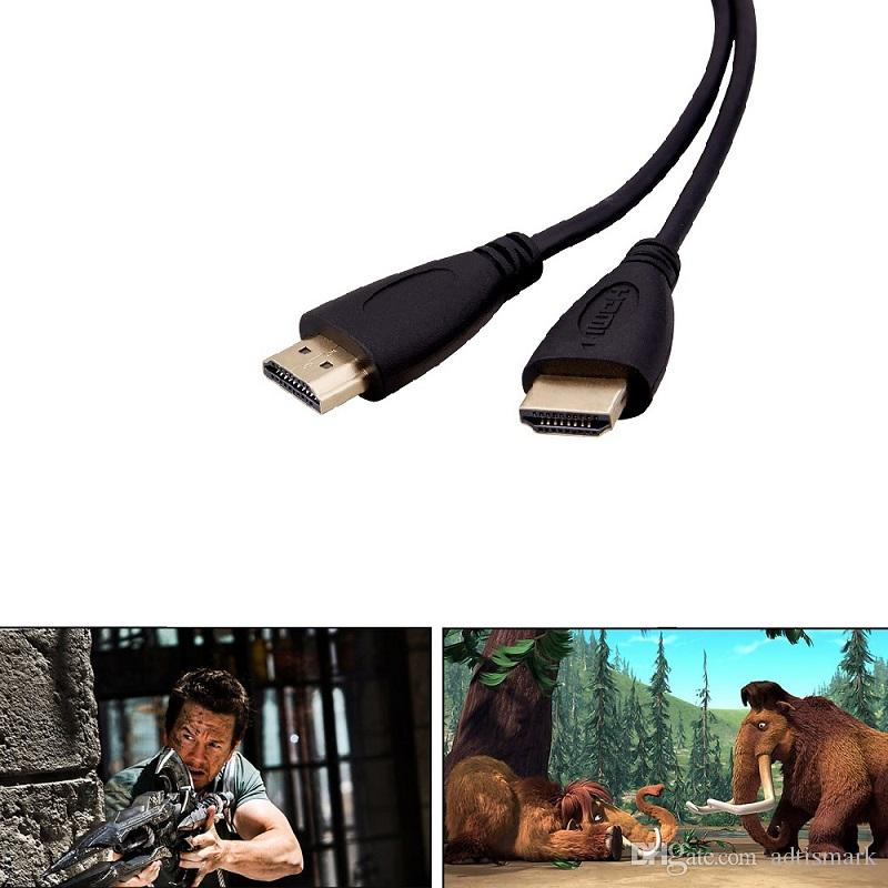 3FT,0.5M,1M,1.5M,2M,3M,5M,10M,15M High speed Gold Plated Plug Male-Male HDMI Cable 1.4 Version HD 1080P 3D for HDTV XBOX PS3 computer