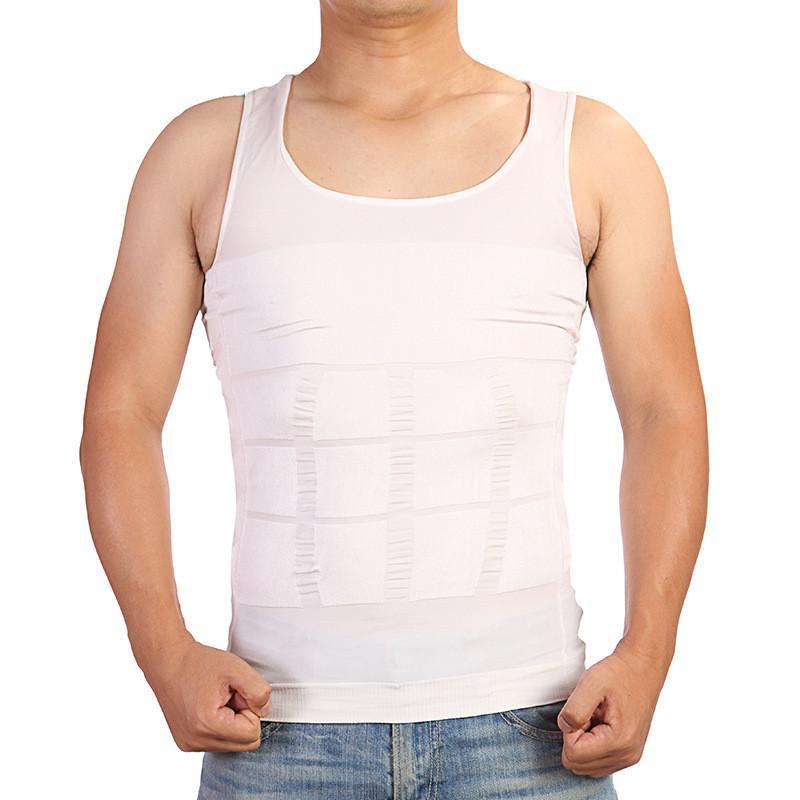 Hombres que adelgazan el chaleco de la ropa interior de la cintura del cuerpo de la talladora Cincher corsé de los hombres del chaleco de la talladora del cuerpo que adelgaza la panza de la panza del vientre delgado del cuerpo fajas